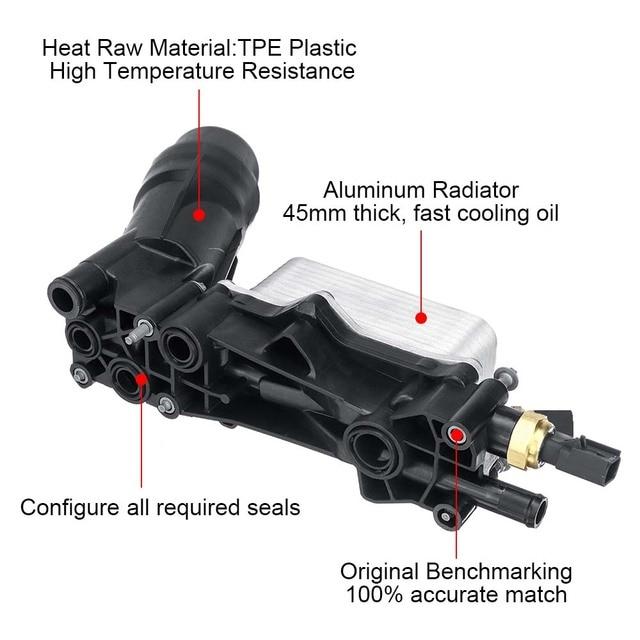 Car Engine Oil Filter Housing Adapter For Chrysler Dodge Challenger Durango Caravan Jeep Ram 3.6L 3.2L 68105583AF 68105583AC 3