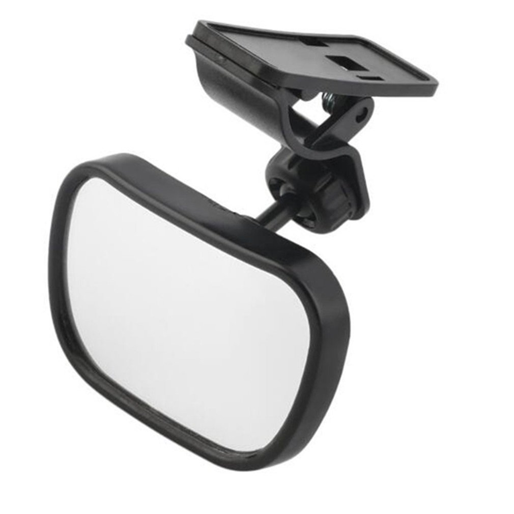 2 In 1 Universal Adjustable Plastic Rear View Interior Mirror Car Seat For Baby Child Safety With Clip And Sucker