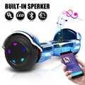 6.5 pouces Hoverboard Scooters électriques Smart planche à roulettes électrique auto-équilibre Scooter Bluetooth haut-parleur LED Hover Board Oxboard