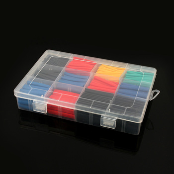 580pcs/750pcs  Heat shrink tube kit Insulation Sleeving Polyolefin Shrinking Assorted kit heat wrap shrink box