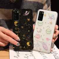 For Samsung Galaxy Note 10 Plus S20 Ultra A70 A50 Glitter Planet Star Soft Case Cover For Samsung A80 A60 A50S A40 A30 A20E A10S