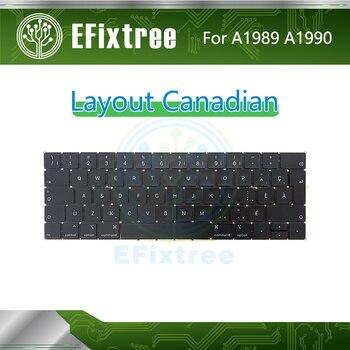 Full New Original  A1989 Keyboard Canadian For Macbook Pro 13'' 15'' A1990 Keyboard Layout EMC 3124 EMC 3215  Mid 2018 Year