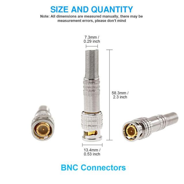 BNC JR-B25 mężczyzna lutowane złącze BNC dla bezpieczeństwa system kamer cctv kabel koncentryczny CAT5 wideo Balun przejściówka