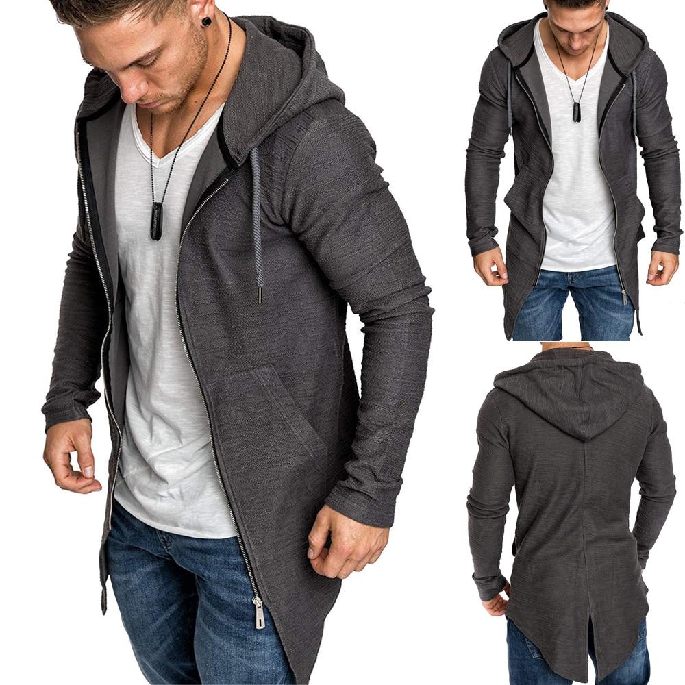 Hd2aad09ea67a42bb933da0e9eedb031dt Men's Warm Hooded Coat Outwear Jumper Winter Trench Zipper Long Sleeve Cloak Male Coat Streetwear