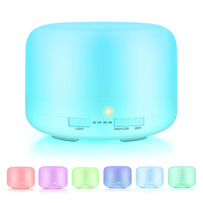 <font><b>500</b></font> ML Remote Control <font><b>Air</b></font> Humidifier Aroma Essential Oil Diffuser Ultrasonic Aromatherapy Mister Atomizer EU Plug image