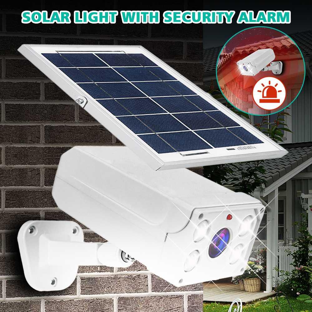 450LM Solar Wall Lamps Security Outdoor Lighting Garden Street Solar Light Voice Alarm Motion Sensor Detector IP65 Waterproof