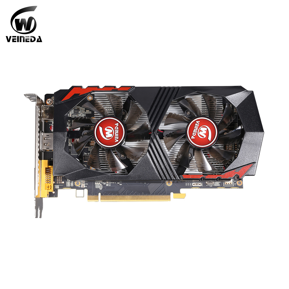 VEINEDA Video Card desktop pc gaming Computer Graphic Card PCI-E GTX1050Ti GPU 4G DDR5 for <font><b>nVIDIA</b></font> Geforce Game image