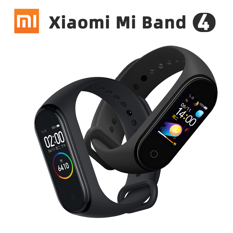 Original Xiaomi Smart Mi Band 4 Bluetooth 5 0 Heart Rate Monitor Sport AMOLED Color Touch Bracelet Water Resistant Wristband