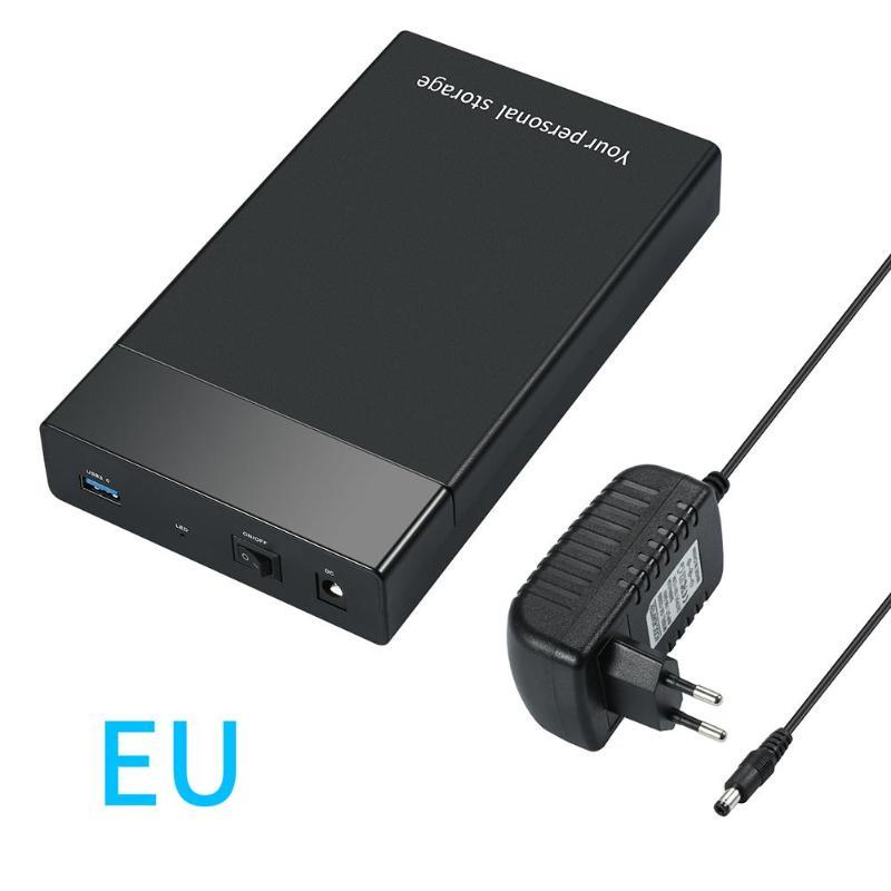 3 5inch HDD Case USB 3 0 to SATA III External Hard Drive Enclosure USB Hard Disk Box For 10TB 2 5 3 5 HD SSD Case EU US UK plug
