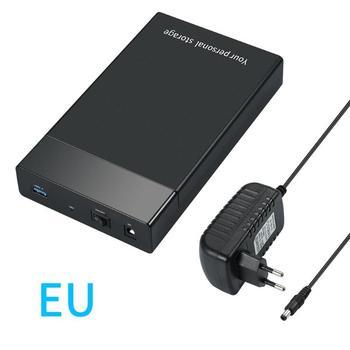 3.5inch HDD Case USB 3.0 to SATA III External Hard Drive Enclosure USB Hard Disk Box For 10TB 2.5 3.5 HD SSD Case EU US UK plug