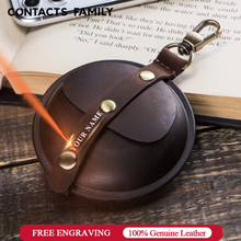 Echtes Leder Kopfhörer Lagerung Box Daten Kabel Ladegeräte Box Geldbörse Tasche Organizer Multifunktions Kopfhörer Fall Container