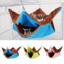 Cama de casal de pelúcia quente cama de rato hamster hammock para casa de hamster pendurado ninho saco de dormir pendurado camas de árvore
