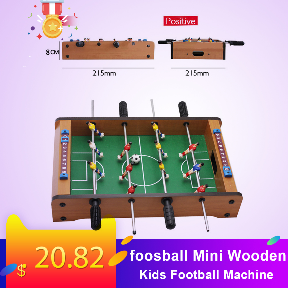 foosball Mini Wooden Kids Children's Table Football Machine Table Soccer Toys calcio balilla indoor games image