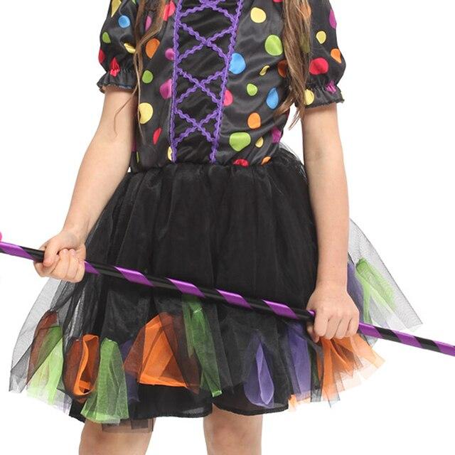 Envío Gratis disfraces de fantasía de Halloween para niños y niñas, disfraces de bruja infantil para niñas, ropa de bate de bruja