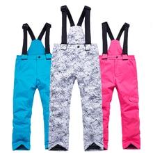 30 детских лыж, детские зимние лыжные штаны, уличные лыжные штаны, водонепроницаемый пояс, мужские и женские лыжные штаны