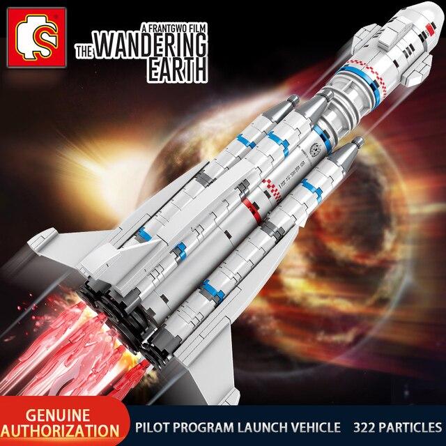 SEMBO Wandering Earth Spaceport Space Shuttle Launch Center Rocket Building Block Bricks Kids Toys For Children Technic