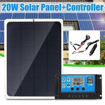 20W/30W/40W Waterproof Can Be Placed In Outdoor Portable Solar Panel Power Generation Charging Board Phone Battery Charger 3