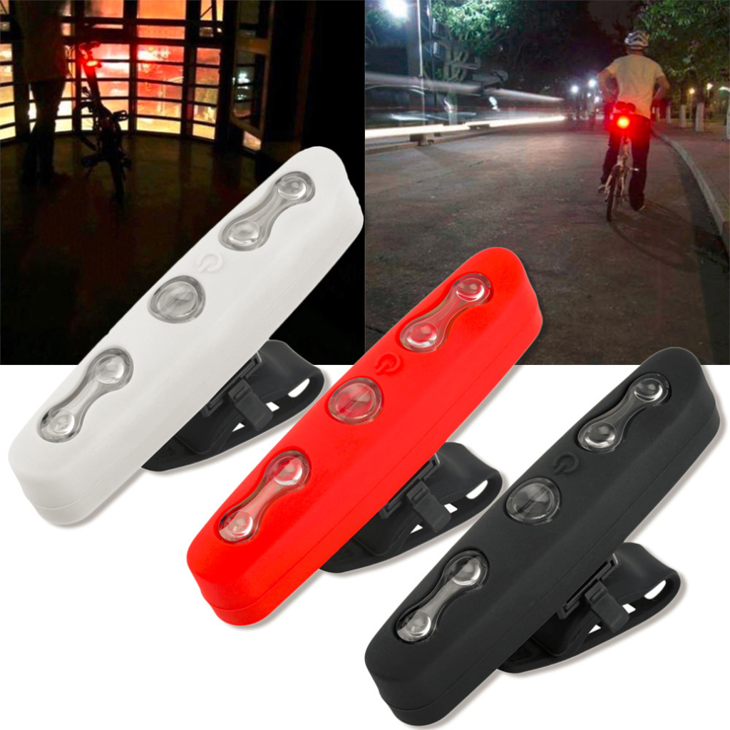 Bike Taillight Bicycle Tail Light Powered By 2 AAA Batteries 7 Modes High Intensity Rear LED Accessories Bikes Helmet & Backpack