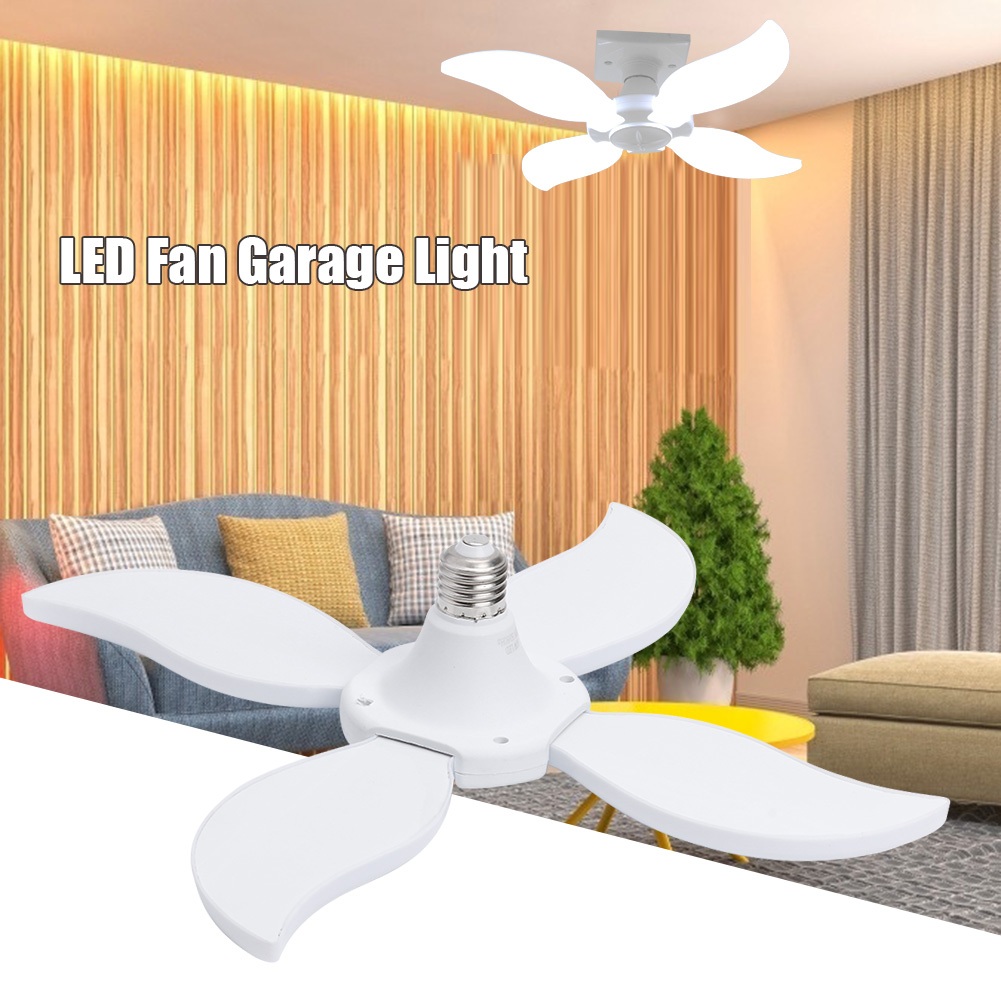 High Bay Workshop Industrial Lighting Lamp 60W E27 LED Fan Garage Light Good Transmittance Uniform Lighting Folding
