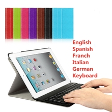 цена на For iPad 2/3/4 9.7 Keyboard Case Smart Cover Foldable Case for A1395 A1396 A1397 A1416 A1430 A1403 A1458 A1459 A1460