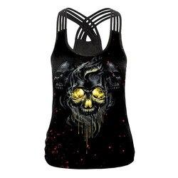 Ночи Хэллоуина новые продукты Amazon Ebay Лидер продаж 3D череп цифровая печать Для женщин топ на бретелях