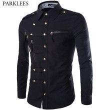 Camisa ajustada de algodón para hombre, Camisa de manga larga con estilo, Camisa Masculina, diseño a la moda, 2020