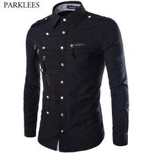 Chemise à manches longues pour Homme, élégante, en coton, Design à la mode, 2020