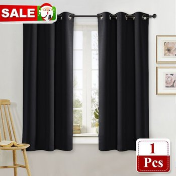 NICETOWN 1PC Blackout Curtain Drape Panel Three Pass Microfiber Noise Reducing Thermal Insulated Window Drape for Living Room фото