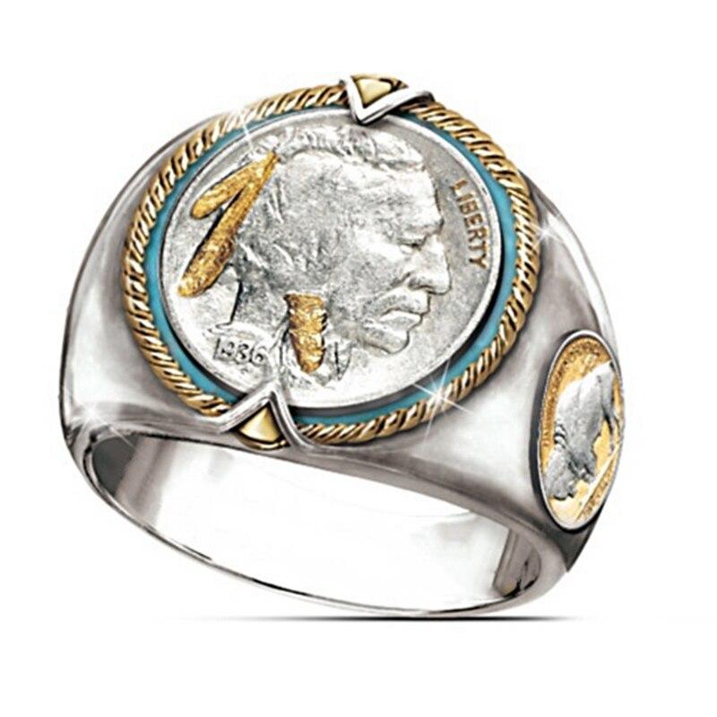 1 Uds., anillo de acero de titanio para hombre, anillo de estilo indio, gran Punk, acero inoxidable, Toro Vikingo, regalos de joyería y anillos,