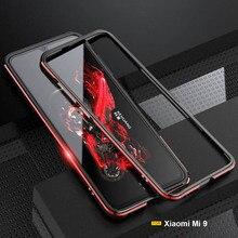 For Xiaomi Mi 9 lite  case Luxury Original Glossy Alumium bumper shell cover  case Metal Frame mi cc9 a3 lite case funda