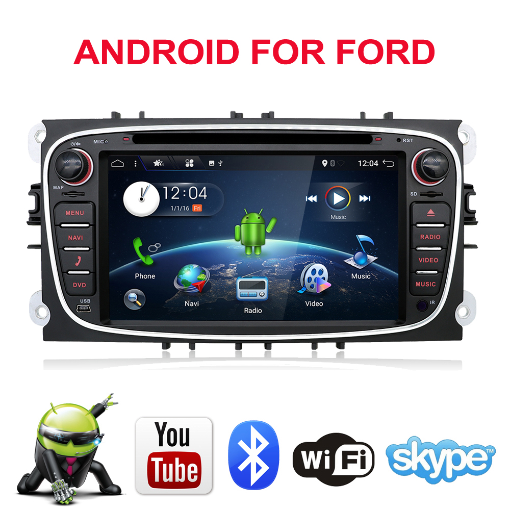 Bosion Car Multimedia Player Android 10.0 <font><b>GPS</b></font> 2 Din car dvd player for <font><b>Ford</b></font>/<font><b>Focus</b></font>/S-MAX/Mondeo/C-MAX/Galaxy wifi car radio SWC image