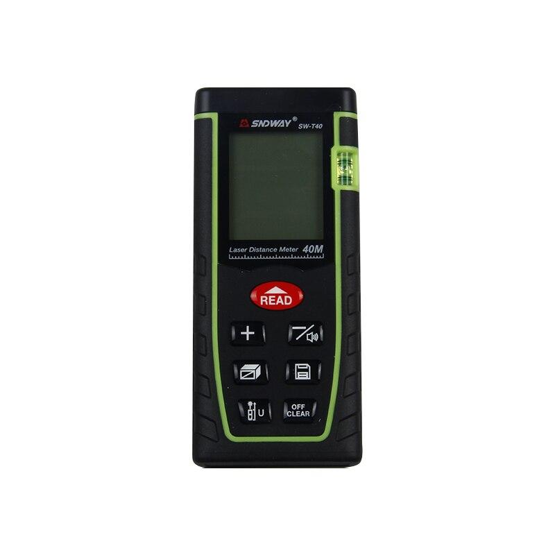 SNDWAY Mini Handheld Laser-distanzmessgerät 40m Laser-entfernungsmesser OEM Laser Maßband Roulette Werkzeug