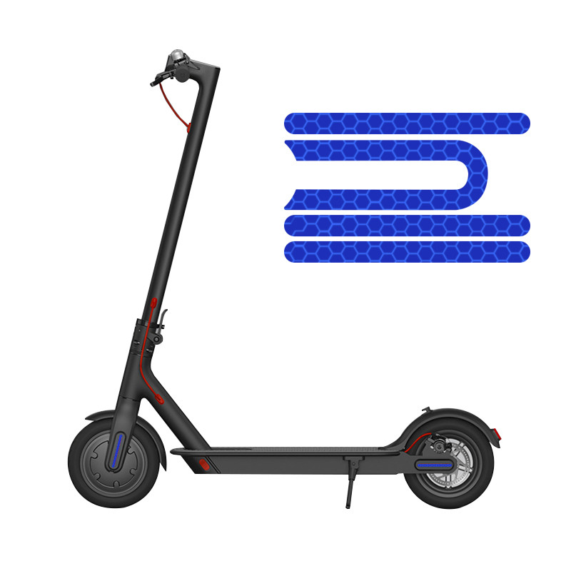 For Xiaomi Mijia M365 Electric Scooter Reflective Stickers Anti-cursor Sharing Accessories Night Safety Warning Strip