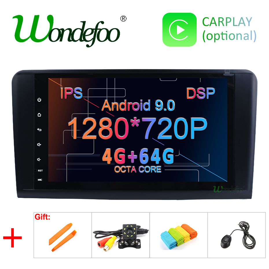 Android 9.0 4G 64G car GPS For Mercedes Benz ML GL W164 ML350 ML500 GL320 X164 ML280 GL350 GL450 radio stereo navigation NO DVD-in Car Multimedia Player from Automobiles & Motorcycles