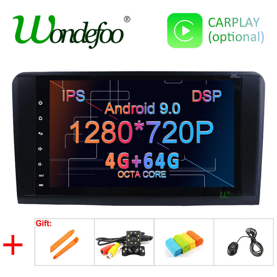 Android 9.0 4G 64G car GPS For Mercedes Benz ML GL W164 ML350 ML500 GL320 X164 ML280 GL350 GL450 radio stereo navigation NO DVD