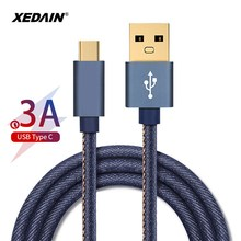 Denim 3A USB Type C Cable Fast Charging USB Type-C USB-C Data Sync Charger Cables for Xiaomi Samsung Huawei MacBook/Letv/Oneplus цены
