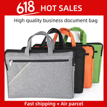 A4 Filing File Folder Luxury Business Document Bag Meeting Handbag Tote Zipper Office Briefcase Case Supplies coloffice 2018 new impression a4 paper color dot folder four color business office folder data storage folder new filing product