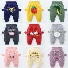 Ropa de bebé recién nacido, pantalones bombachos de dibujos animados, de cintura alta, pantalones de algodón PP para niños y niñas