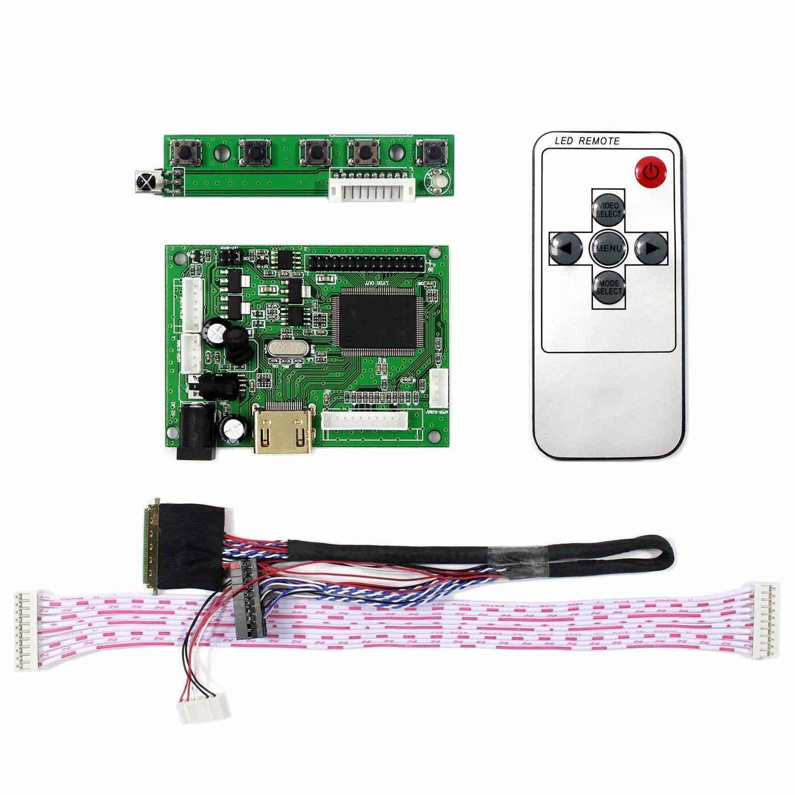 """HDMI LCD denetleyici kurulu için 15.6 """"B156XW02 LP156WH2 15.6 inç 1366x768 LCD ekran klavye HDMI + VGA + ses bağlantı noktası LVDS 40Pin kablo"""