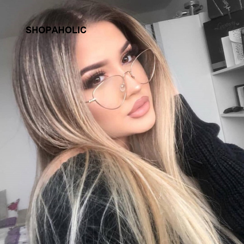 2020 New Cat Eye Glasses Frame Women Brand Designer Cateye Optical Eyeglasses Ladies Fashion Retro Clear Glasses