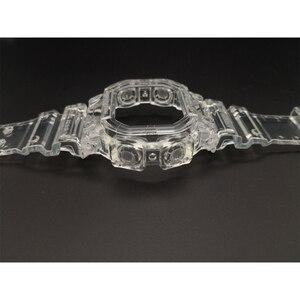 Image 5 - Reemplazo de correa de silicona para reloj GX56, correa de goma deportiva resistente al agua, correas de reloj transparentes, bisel, herramienta de banda de reloj