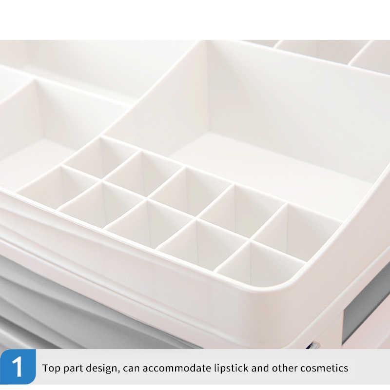 Лучший косметический Органайзер для хранения косметики косметический ящик для косметики, синий-4 слоя