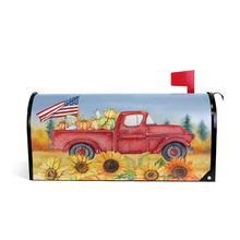 Осень День благодарения тыква Красный грузовик Магнитная Крышка почтового ящика Подсолнух американский флаг письмо почтовый ящик Обложка декоративная обертка