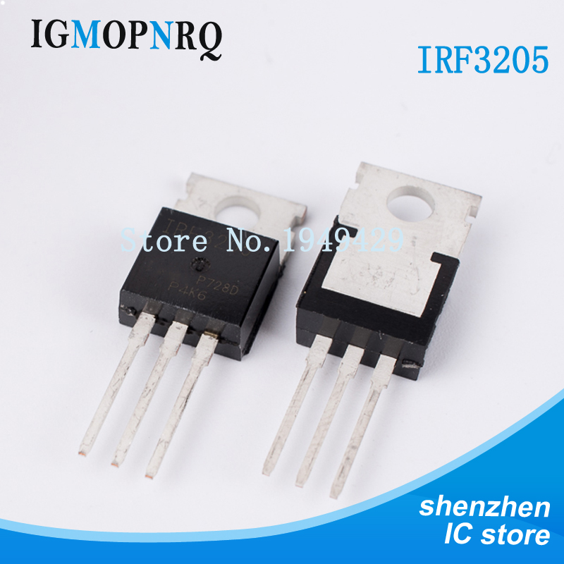 10pcs Free Shipping IRF3205 MOSFET IRF3205PBF MOSFT 55V 98A 8mOhm 97.3nC TO-220 New Original