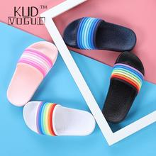 Kids Rainbow Fashion Shoes Childrens Beach Water Outdoor Summer Slippers Baby Girl Boy Cartoon Home Indoor Toddler Cute Sandals