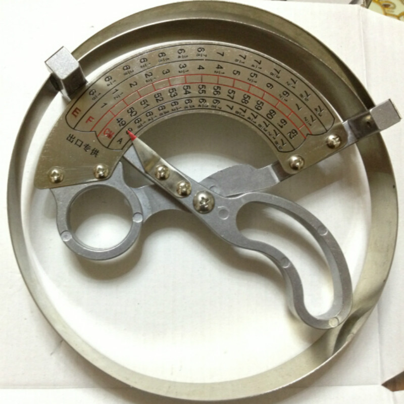 42-70CM Professional Hat Ruler Stainless Steel Scissor Type Ring Compass Cap Hat Size Measurement Tools Fashion Design Sewing
