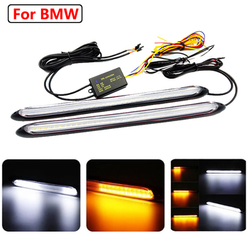 Flexible Car LED DRL Running Light Turn Signal Strip For BMW E90 F30 G20 E60 G30 F20 E70 F10 Front grill 3 5 1 series x5 x3 x1 image