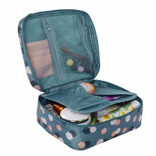 220 * 180 * 9 mm Cosmetic Makeup Storage Bag Toiletry Storage Organizer Neceser Rushed Floral Zipper Travel Wash Pouch 19DEC30(China)
