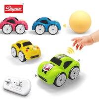 Mini RC sensore intelligente auto radiocomandata auto elettriche carine telecomando auto modalità cartone animato musica intelligente giocattolo veicolo leggero