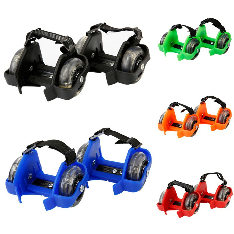 2019 Cool Adjustable Colorful Flashing Roller Whirlwind Pulley Flash Wheels Roller Skating Shoes For Kids Adultsimply